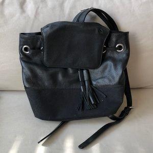 Rebecca Minkoff Black Leather Backpack Purse